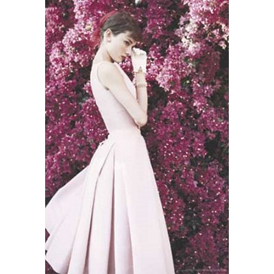 Audrey Hepburn (Pink Dress) Movie Poster Print - 24x36