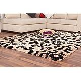 Langflor Hochflor Shaggy NEU Teppich Moderne Teppiche Tier Motiv Braun Beige, Größe:160cm x 230cm