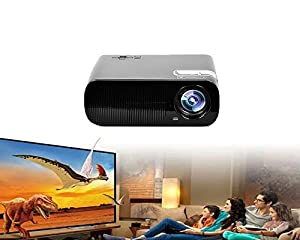 Aketek latest Fashionable HD 2600 Lumens 800x480 Keystone Correction Fuction Projector LCD LED Video Game HOME Cinema Theater Movie Projector Perfect For Child Education, Party, Halloween, Xmas ,Support Outdoor Camping Mobile Projector with HDMI,VAG, TV o
