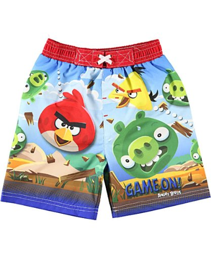 "Angry Birds ""Game On!"" Boardshorts (Sizes 12M - 24M)"