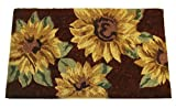Geo Crafts G254 18-Inch-by-30-Inch PVC Backed Coir Doormat, Sunflower