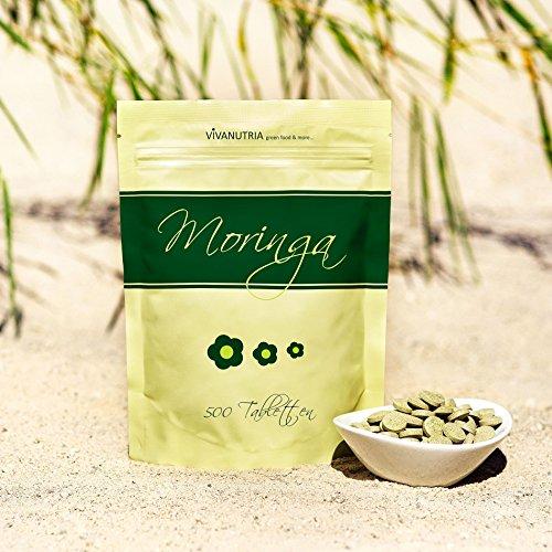 Moringa Tabletten, 500 Stück á 500mg, Rohkostqualität!