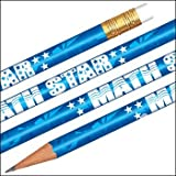 Foil Math Star Pencils - 144 per set