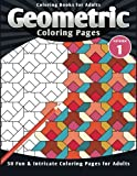 img - for Coloring Books for Adults Geometric: Coloring Pages (Fun & Intricate Coloring Pages for Adults) (Volume 1) book / textbook / text book