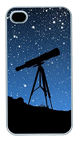Iphone 4 4S Case Sky Telescope Pc Custom Iphone 4 4S Case Cover White