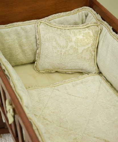 Green Frog Art 3 Piece Cradle Bedding Set, Sagebrush