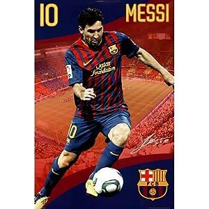 Amazon.com - Barcelona- Messi Poster Poster Print, 24x36
