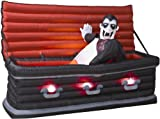Animated Airblown Vampire Rising from Coffin