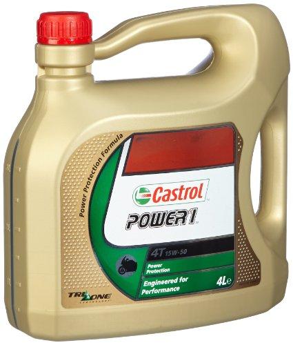 Castrol Power 1 Motorenöl 15W-50 4T 4L (englischsprachige Etiketten)