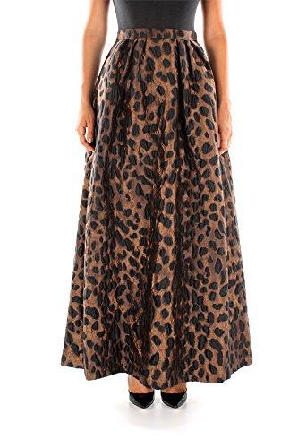 Gonne Pinko Donna Poliestere Leopardato 1N118G5928LZ5 Marrone 42