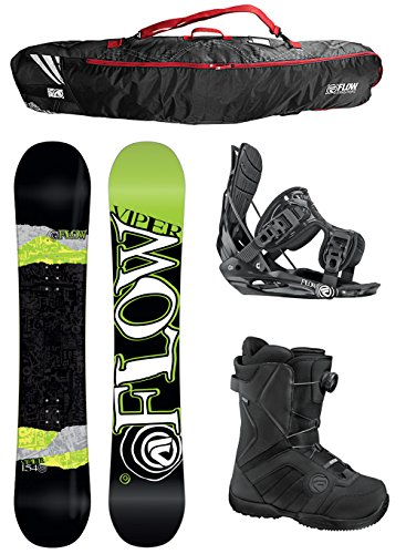 Flow Viper WIDE Men's Complete Snowboard Package Flow Bindings Flow BOA Boots 2014 – Board Size 159 Wide (Boot Size 10)