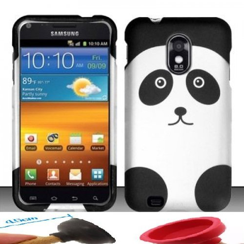 Buy World Rubberized Panda Bear Design Case  for Sprint Samsung Epic Touch 4G D710/Galaxy S2 rubberized hard shell case w ribbed design holster