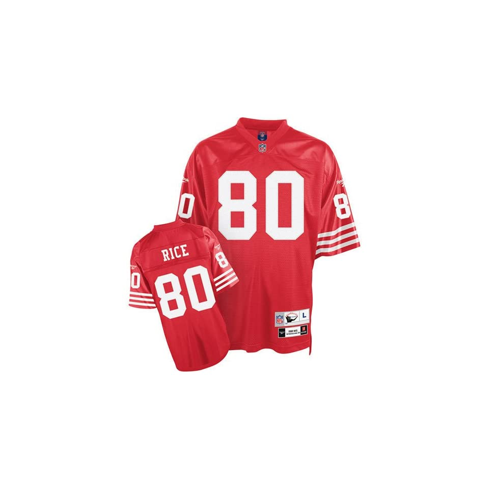 Jerry Rice #80 San Francisco 49Ers Nfl Retired Premier Jersey (Red)