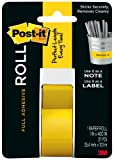 Post-it Full Adhesive Roll, 1 x 400 Inches, Yellow, 1-Pack ,2650-Y