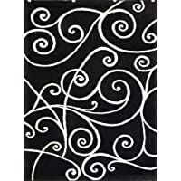 Modern Area Rug Black Design # G 23
