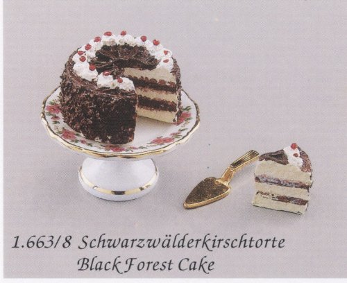 Reutter Porcelain Miniature Black Forest Cake Set