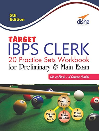 Target IBPS Clerk 20 Practice Sets Workbook for Preliminary & Main Exam (16 in Book + 4 Online Tests)