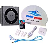 [NEW & Top-Rated] WATERPROOF iPod Shuffle With TRUE DIGITAL SOUND Short-cord Premium Buds (FREE Ship & Attractive Swim Cap)**GRAY Waterproof Apple iPod