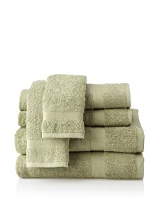 pure fiber bath towel set sage green home kitchen. Black Bedroom Furniture Sets. Home Design Ideas