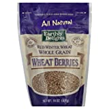 Earthly Delights Wheat Berries 14.0 OZ (Pack of 6)