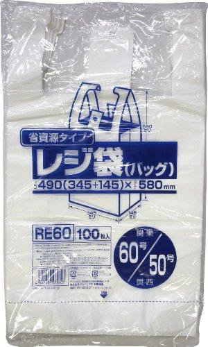 ジャパックス レジ袋60号 乳白 100P RE-60
