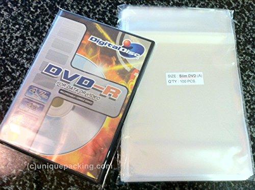 100-pcs-clear-slim-dvd-case-opp-cello-cellophane-plastic-bags-non-shrink-by-uniquepacking-by-uniquep