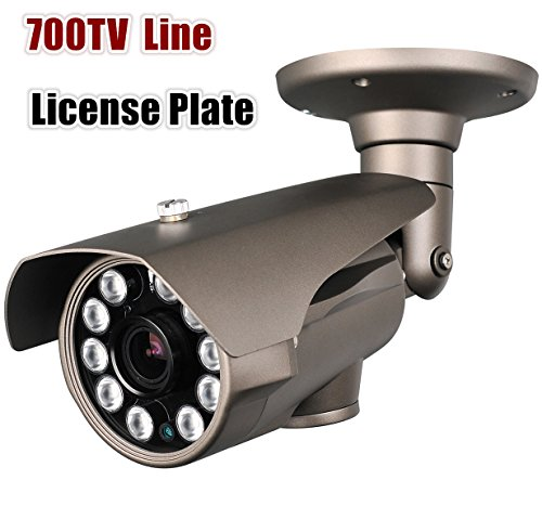 Hq-Cam® 700Tv Lines High Resolution Camera 10Ir Large Leds Sony Effio 5-50Mm Vari-Focal Lens Cctv Day And Night License Plate Camera (Outdoor/Indoor) Weatherproof Ir Distance:200-250Ft