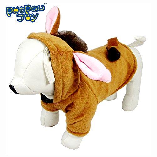 PetPawJoy Dog Cat Horse Play Costume,Orange,Large Animals ...
