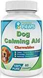 Dog Calming Aid - Chewable Time Release - Chamomile Flower, Passion Flower, Thiamine Mononitrate, L-Tryptophan - 60 Chewables