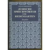 """J�dische Sprichw�rter und Redensarten.von """"Ignaz Bernstein"""""""