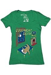 Sharp Shirter Women's Goodnight Sloth Deep V