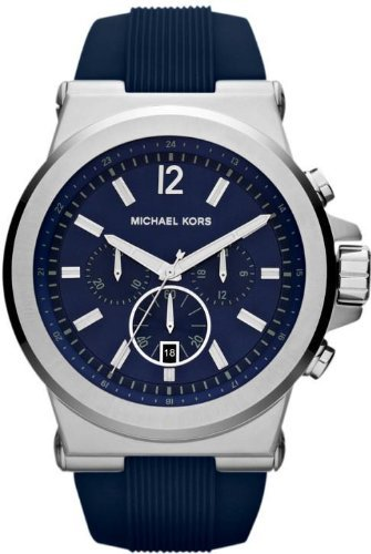 Michael Kors Dylan Blue Dial Blue Rubber Mens Watch MK8303