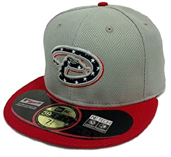 New Era 59Fifty Independence On-Field Arizona Diamondbacks Gray & Red Fitted Cap by New Era