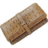 ba2728c7fee4 MAXIA Collections 三つ折長財布 レディース 黒 茶 赤 牛革