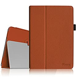 Fintie Apple iPad Air Folio Case - Slim Fit Leather Smart Cover with Auto Sleep / Wake Feature for iPad Air 5 (5th Generation) - Brown