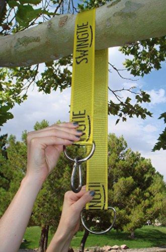 Swing hanger installation to tree set of 2 straps hardware hardware