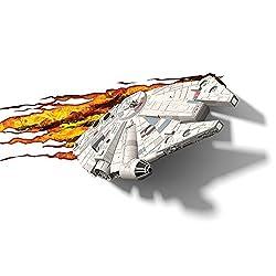 3D Light FX Star Wars Millenium Falcon 3D Deco LED Wall Light