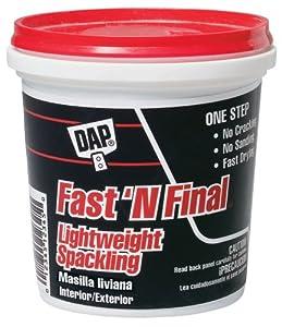 Dap .50 Pint Fastft.N Final Spackling Interior & Exterior 12140