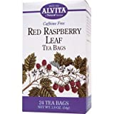 Alvita Caffeine Free Tea Bags, Red Raspberry Leaf 24 ea