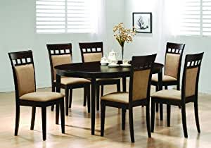 Oval Dining Room Wood Table Chair Set Kitchen Chairs Table Am