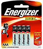 Energizer MAX Alkaline Battery E92BP4 AAA Value Pack - Total 4 AAA Batteries