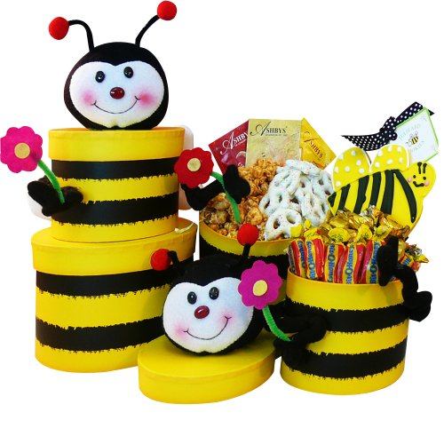 Art of Appreciation Gift Baskets   Queen Bee Treats Tower