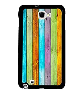 Fuson Premium 2D Back Case Cover Designed wood With Purple Background Degined For Samsung Galaxy Note 2::Samsung Galaxy Note 2 N7100
