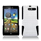 Aimo Wireless MOTXT907PCPA028 Hybrid Armor Cheeze Case for Motorola Droid RAZR M XT907 - Retail Packaging - Black/White