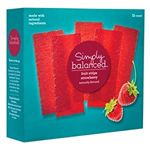Amazon Com Simply Balanced Strawberry Fruit Strips 25ct