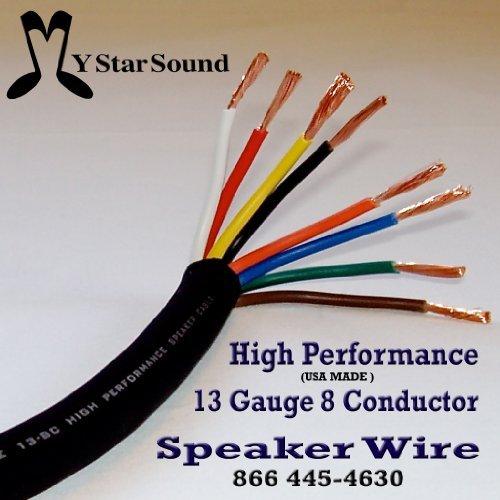 13 Gauge 8 Conductor Speaker / Snake Wire Usa Made Hi End (50 Ft)