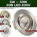 SONDERAKTION Decken Einbauleuchten DECORA; 230V; 1er Set inkl. COB LED