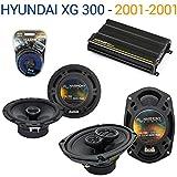 Hyundai XG 300 2001-2001 OEM Speaker Upgrade Harmony R65 R69 & CX300.4 Amp