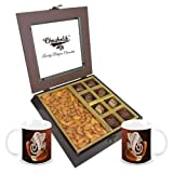 Chocholik Premium Gifts - Unique Combination Of Chocolates & Almonds With Diwali Special Coffee Mugs - Diwali...