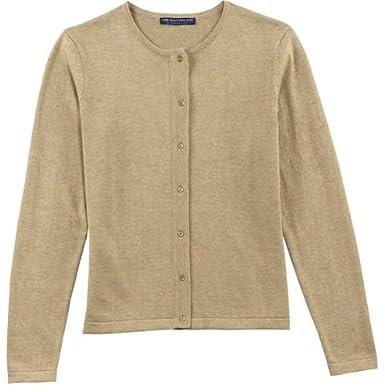 Port Authority Signature - Ladies Fine-Gauge Crewneck Cardigan Sweater